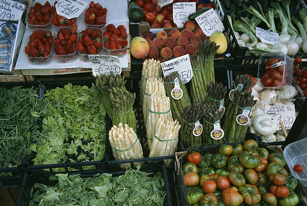 Plants Photograph - A Farmers Market Selling Vegetables by Taylor S. Kennedy