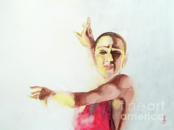 Flamenco Painting - A Flamenco Dancer by Yoshiko Mishina