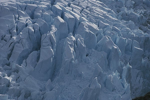 South America Photograph - A Glacier Icefall From The Cordillera by Gordon Wiltsie