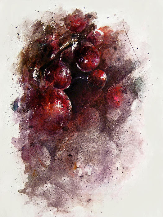 Grapes Painting - A Grape Mystery by Rachel Christine Nowicki