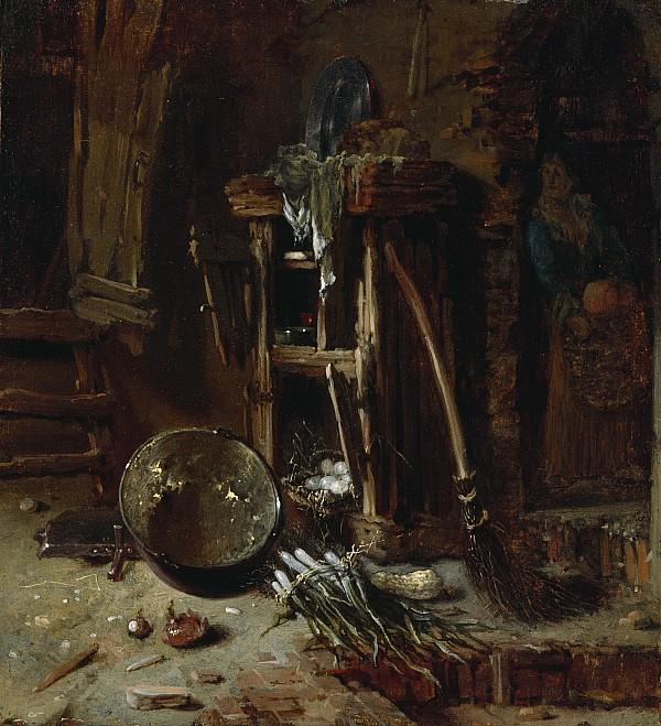 Kitchen Painting - A Kitchen Corner by Willem Kalf