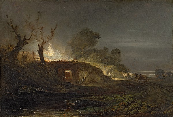 Lime Photograph - A Lime Kiln At Coalbrookdale by Joseph Mallord William Turner
