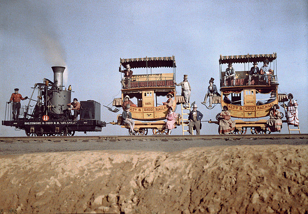 Day Photograph - A Locomotive And Two Coaches by Charles Martin