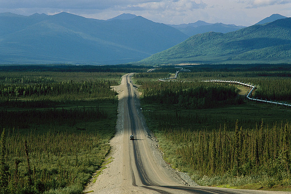 North America Photograph - A Lone Truck Moves Down The Dalton by Melissa Farlow