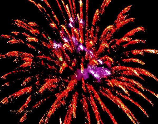 Fireworks Photograph - A Million Trails by DigiArt Diaries by Vicky B Fuller