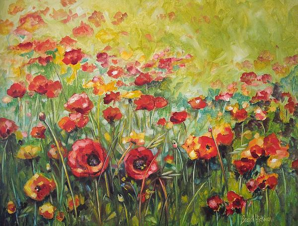 Poppies Painting - A New Day by Brandi  Hickman