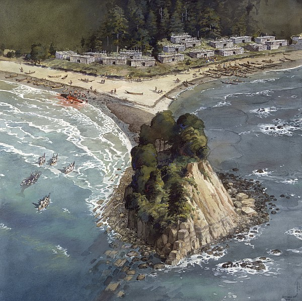 Illustration Photograph - A Painting Depicts A Makah Indian by Richard Schlecht