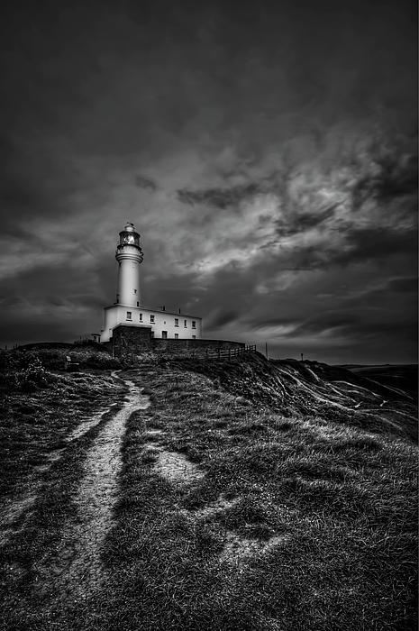 Lighthouse Photograph - A Path To Enlightment Bw by Evelina Kremsdorf