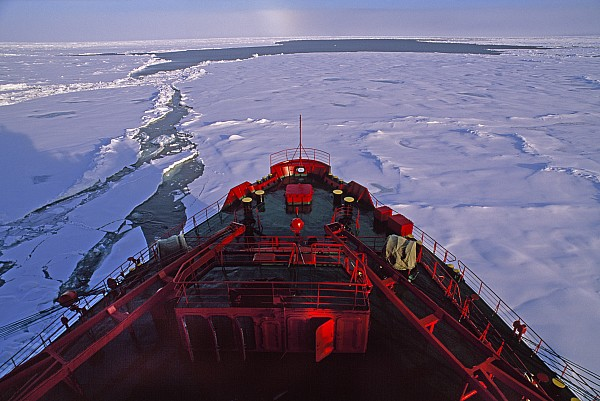 Outdoors Photograph - A Russian Nuclear Icebreaker, Forges by Gordon Wiltsie