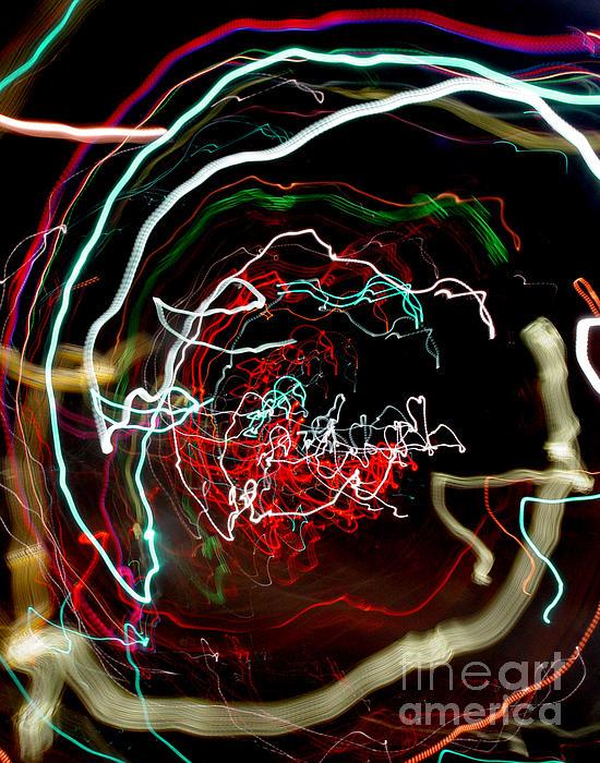 Neon Lights Photograph - A Skewed Life Ahead by Peter Piatt