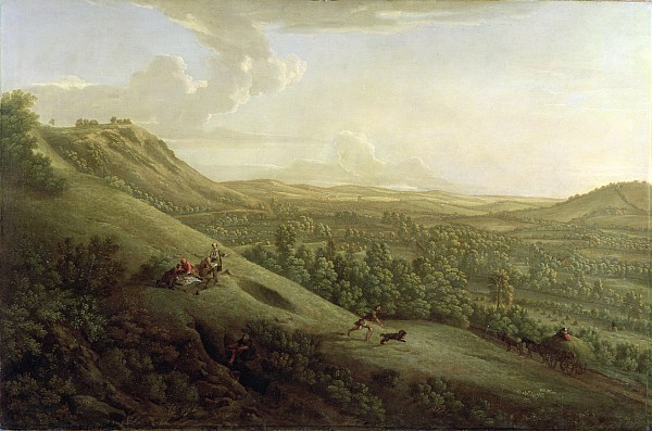 View Painting - A View Of Boxhill - Surrey by George Lambert
