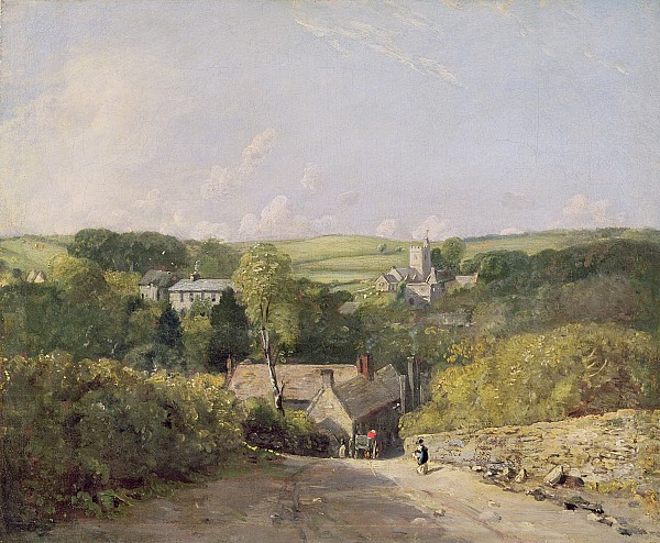 View Photograph - A View Of Osmington Village With The Church And Vicarage by John Constable