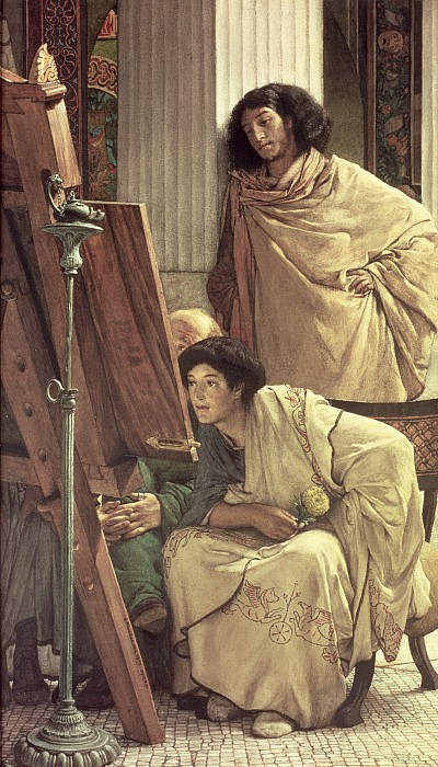 Visit Painting - A Visit To The Studio by Sir Lawrence Alma-Tadema
