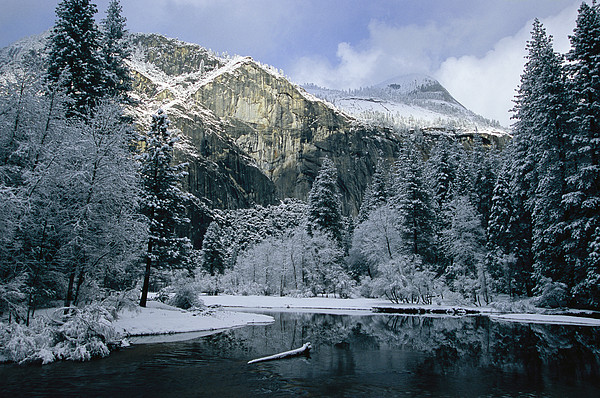 North America Photograph - A Winter View Of The Merced River by Marc Moritsch