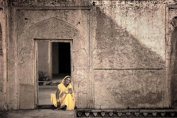 Jaipur Photograph - A Woman In Yellow Dress by Mostafa Moftah