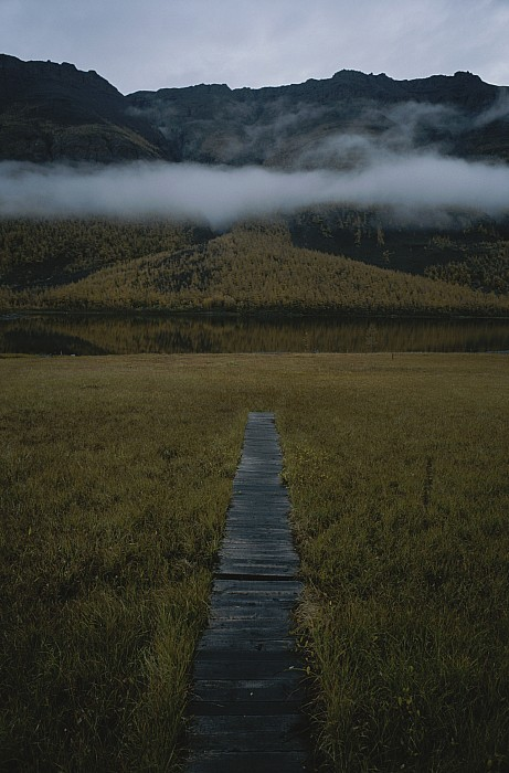 Commonwealth Of Independent States Photograph - A Wooden Pathway Leads To An by Randy Olson