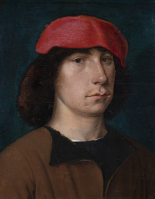 Young Painting - A Young Man In A Red Cap by Michiel Sittow