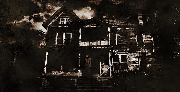 Haunted House Digital Art - Abandoned by Torgeir Ensrud