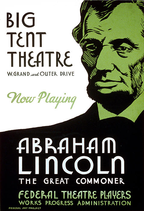 Abraham Lincoln Painting - Abe Lincoln Wpa Poster by Paul Van Scott
