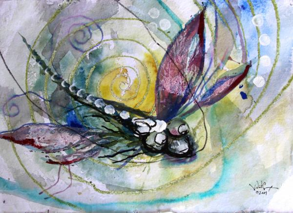 Dragonfly Painting - Abstract Dragonfly 11 by J Vincent Scarpace