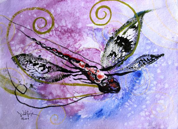 Abstract Dragonfly 6 Painting by J Vincent Scarpace