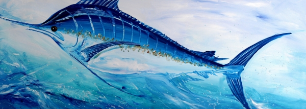 Fish Painting - Abstract Marlin by J Vincent Scarpace