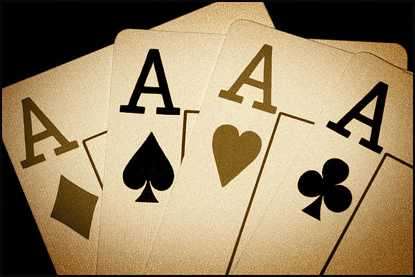 Playing Cards Photograph - Aces by Shane Rees