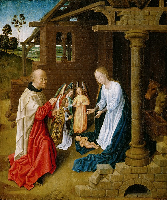 Adoration Painting - Adoration Of The Christ Child  by Master of San Ildefonso