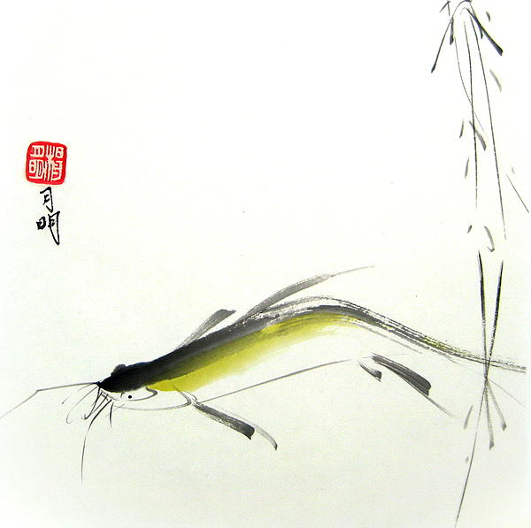 Fish Painting - Adventurer by Ming Yeung