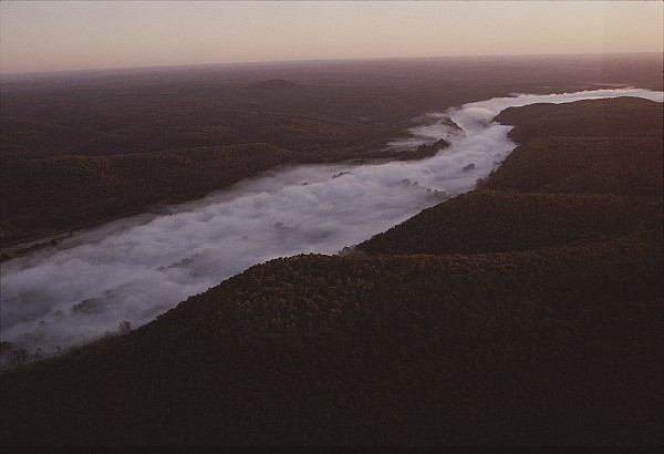 North America Photograph - Aerial Of The Buffalo River by Randy Olson