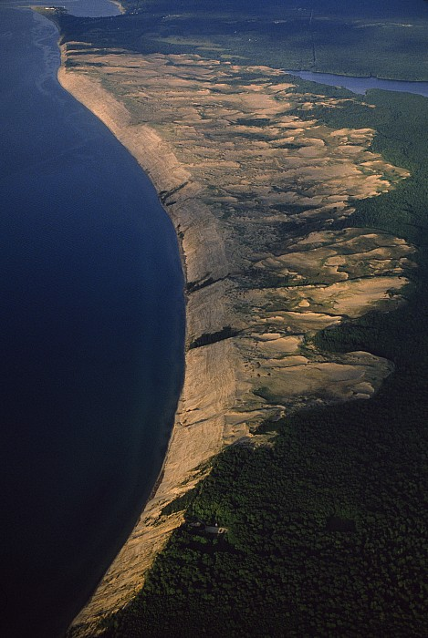 Upper Peninsula Photograph - Aerial View Of The Grand Sable Dunes by Phil Schermeister