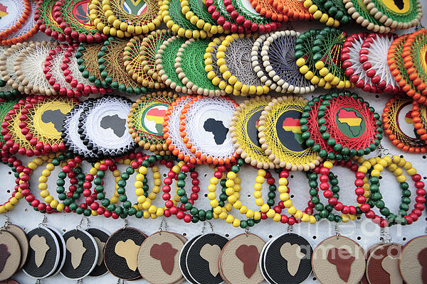 Africa Photograph - African Beaded Earrings by Neil Overy