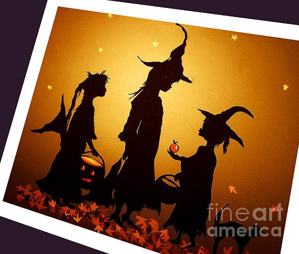 Scherenschnitte Mixed Media - After Halloween by Nancy Michalak