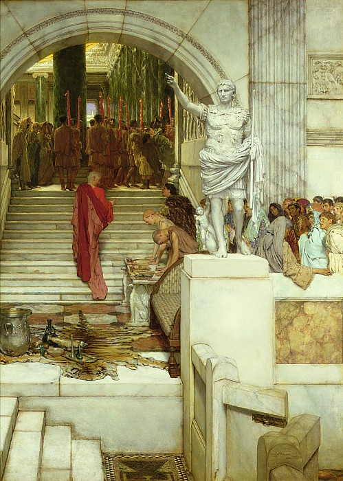 After Painting - After The Audience by Sir Lawrence Alma-Tadema