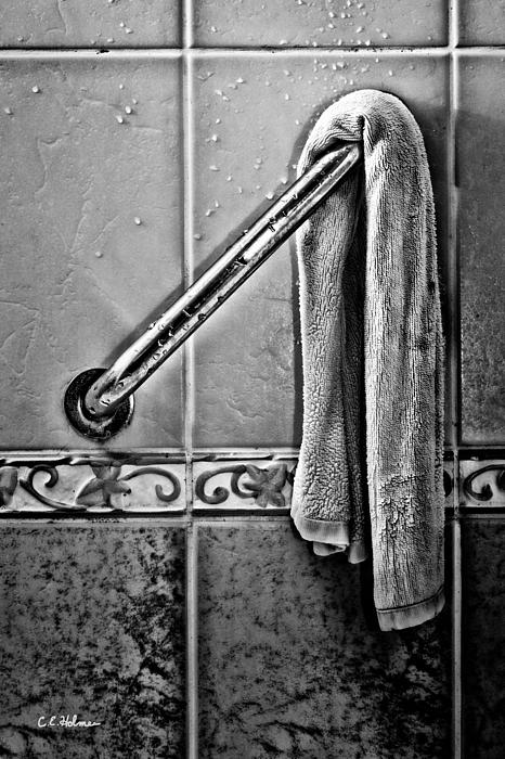 Monotone Photograph - After The Shower - Bw by Christopher Holmes
