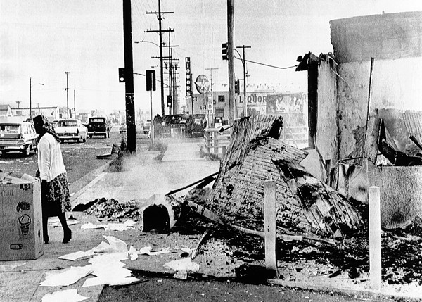 History Photograph - Aftermath Of 2 Days Of Rioting by Everett