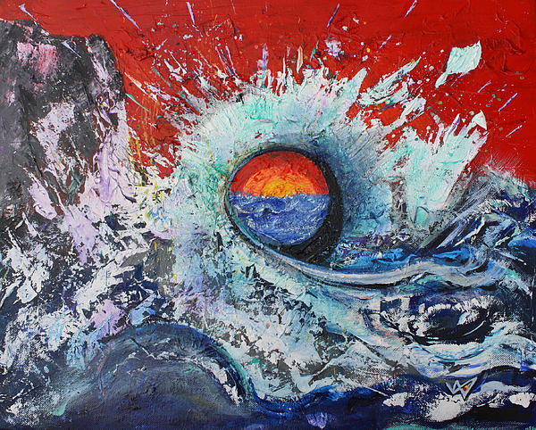 Seascape Painting - Ages Sun by Valerie Wolf