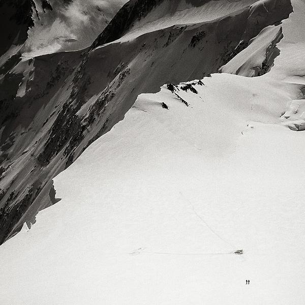 Alone Photograph - Akkem Wall. Western Plateau by Konstantin Dikovsky
