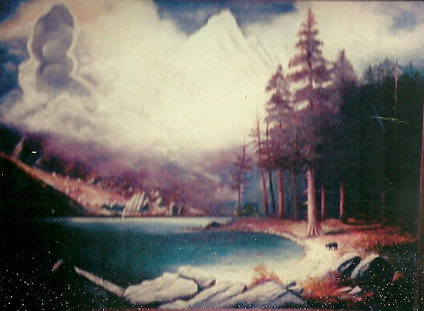 Famous Painting - Albert Bierstadt Copy By Dad by Anne-Elizabeth Whiteway