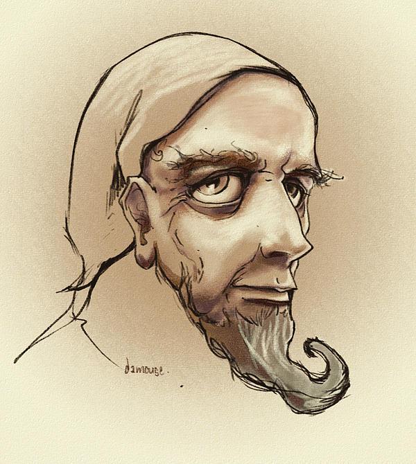 Alchemist Drawing - Alchemist Sketch by Dorianne Dutrieux