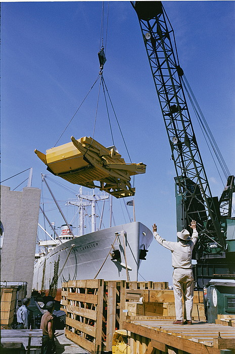 transportation Of Goods Photograph - Alcoa Ship Destines For South America by Justin Locke