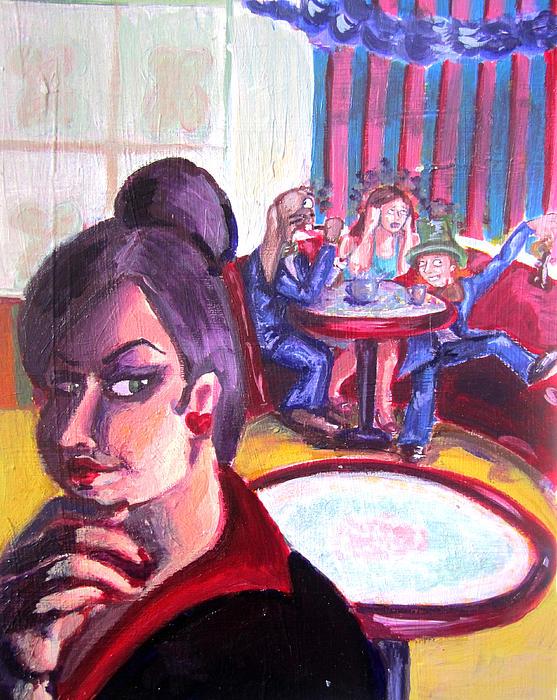 Alice In Wonderland Painting - Alice Trippin In Wonderland by Hannah Chusid