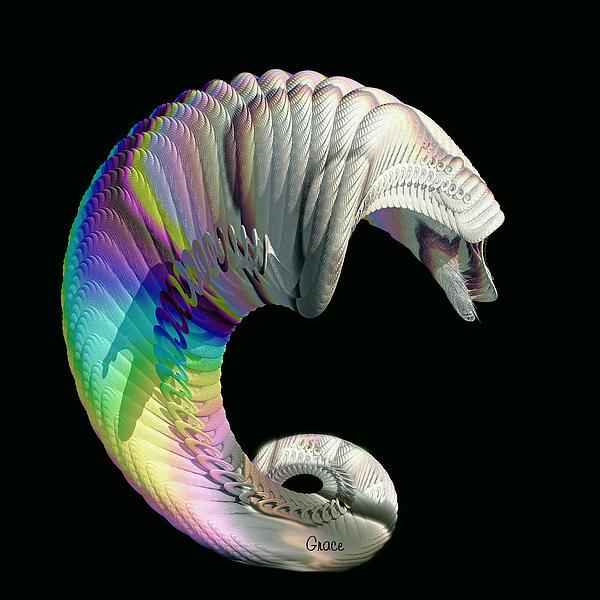 Abstract Digital Art - Alien Dog by Julie Grace