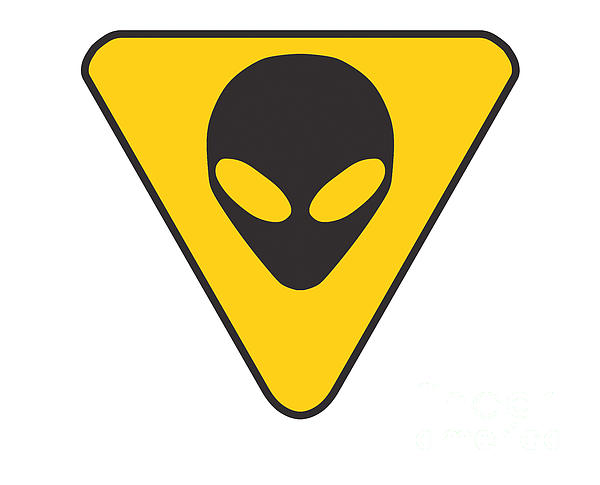 Banksy Digital Art - Alien Grey Hazard Graphic by Pixel Chimp