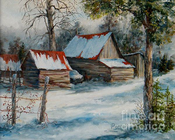 Winter Painting - All Our Yesterdays by Virginia Potter