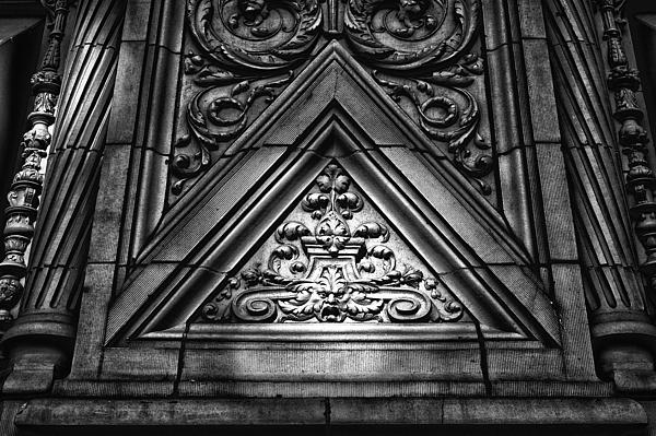 Black Russian Photograph - Alwyn Court Building Detail 13 by Val Black Russian Tourchin