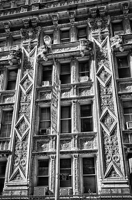 Black Russian Photograph - Alwyn Court Building Detail 15 by Val Black Russian Tourchin