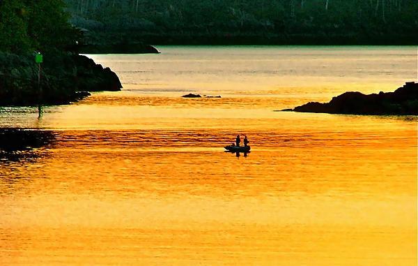 Sunset Photograph - Amber Angling by Brent Sisson