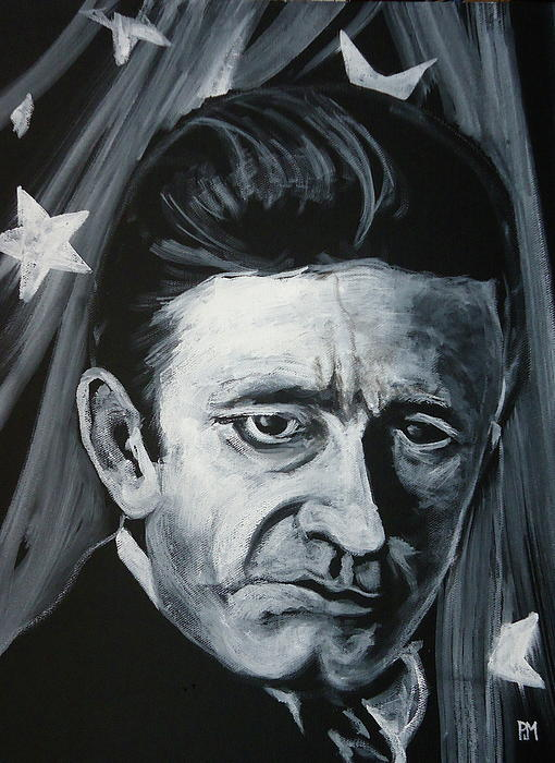 Johnny Cash Painting - American Icon by Pete Maier