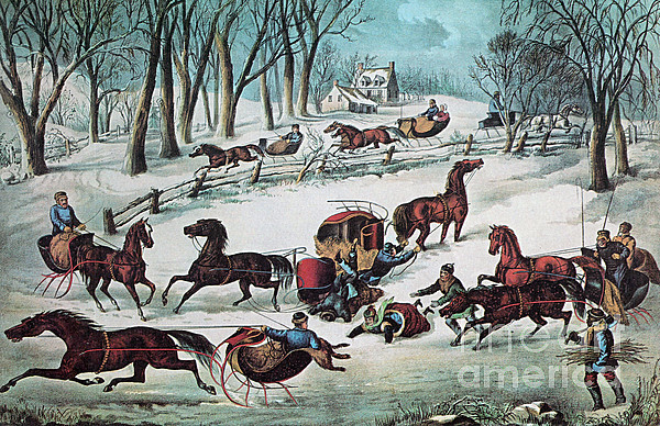 History Photograph - American Winter 1870 by Photo Researchers